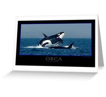 Orca Poster Greeting Card
