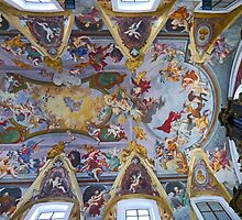 The ceiling of Ljubljana Cathedral by Graeme  Hyde