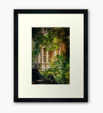 Balcony At Winterthur Framed Print
