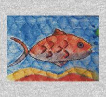 Orange fish One Piece - Long Sleeve