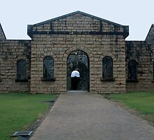 A Fearful Walk - Entry to Assembly Hall and Cells of Trial Bay Gaol by Geoff Stone