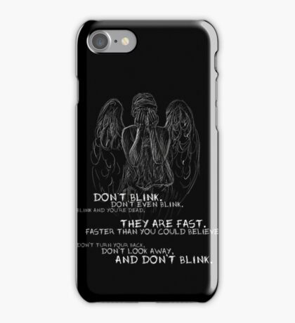 Doctor Who-Don't Blink Speech  iPhone Case/Skin