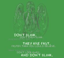 Doctor Who-Don't Blink Speech  One Piece - Short Sleeve