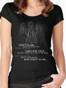 Doctor Who-Don't Blink Speech  Women's Fitted Scoop T-Shirt