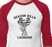 Beacon Hills Lacrosse (black) Men's Baseball ¾ T-Shirt