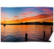 Noosa River Sunset, Queensland Poster