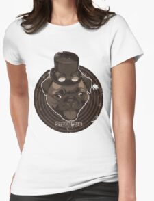 Steam Pug Womens Fitted T-Shirt