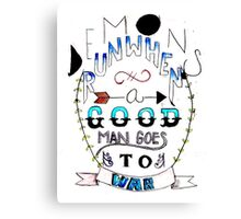 Demons Run- Quote  Canvas Print