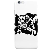 Wild Creatures Big And Small Silhouette iPhone Case/Skin