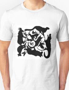 Wild Creatures Big And Small Silhouette Unisex T-Shirt