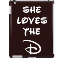 She loves the D (Disney inspired) Dark Bridesmaid shirt iPad Case/Skin