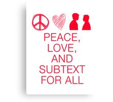 Peace, Love, and Subtext Canvas Print