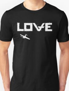 Love and Plane Unisex T-Shirt