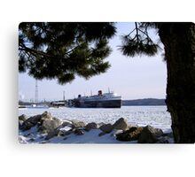 The SS Badger Winter Storage Canvas Print