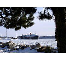 The SS Badger Winter Storage Photographic Print