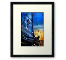 Set The Mast Down by: Linaji Framed Print
