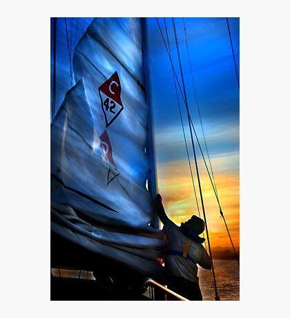 Set The Mast Down by: Linaji Photographic Print