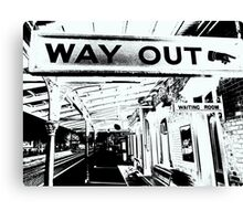 Way Out Canvas Print
