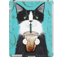Tuxedo Cat with Iced Coffee iPad Case/Skin