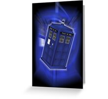 TARDIS Through Time Greeting Card