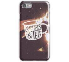 CAMPFIRES & TEA iPhone Case/Skin