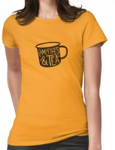 CAMPFIRES & TEA Womens Fitted T-Shirt