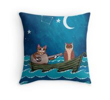 The Owl and the Pussycat Throw Pillow