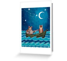 The Owl and the Pussycat Greeting Card