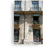 Balconies in Havana, Cuba Canvas Print