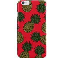 PINEAPPLE - RED iPhone Case/Skin
