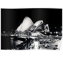 Opera House @ night Poster