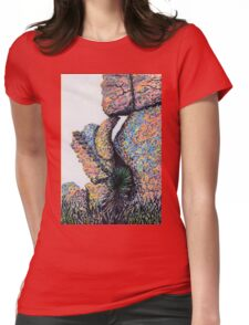 Cliff Boulders at Cochise Stronghold Womens Fitted T-Shirt