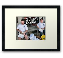 This is the Life: A Good Burger and Car Show......What Car Show, I Came for the Food! Framed Print