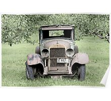 Parked In The Orchard Poster