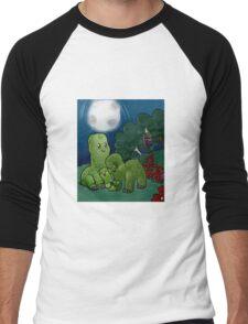 Minecraft - Creepers at night Men's Baseball ¾ T-Shirt