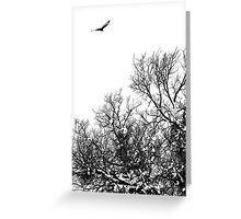 Hawk hunt Greeting Card