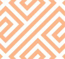Peach Greek Keys Geometric Pattern Sticker