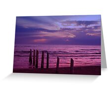 Sauble Beach at Dusk Greeting Card