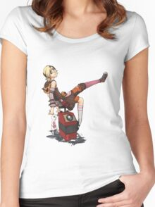 Lady Tina of Blowupyourfaceheim Women's Fitted Scoop T-Shirt