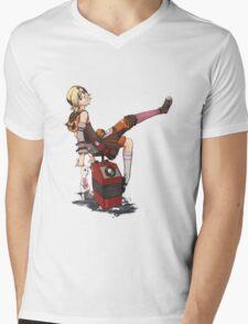 Lady Tina of Blowupyourfaceheim Mens V-Neck T-Shirt