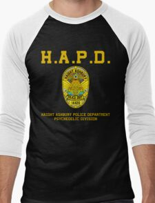HAIGHT ASHBURY POLICE DEPT. color Men's Baseball ¾ T-Shirt