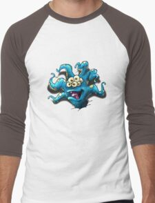 Happy Tentacle head chest burster Men's Baseball ¾ T-Shirt