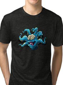 Happy Tentacle head chest burster Tri-blend T-Shirt