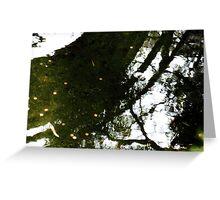 relection of bridge,Japanese tea garden Greeting Card