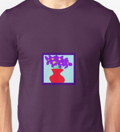 violets in a vase textured pattened and framed Unisex T-Shirt
