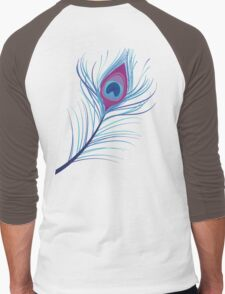 the peacock feather Men's Baseball ¾ T-Shirt