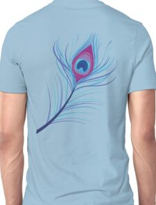 the peacock feather Unisex T-Shirt