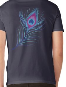 the peacock feather Mens V-Neck T-Shirt