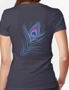 the peacock feather Womens Fitted T-Shirt