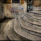 Stairs in Venice by Laurent Hunziker